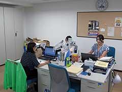 仕事場の写真